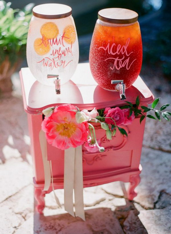 Adorable Vintage Table Drink Station.
