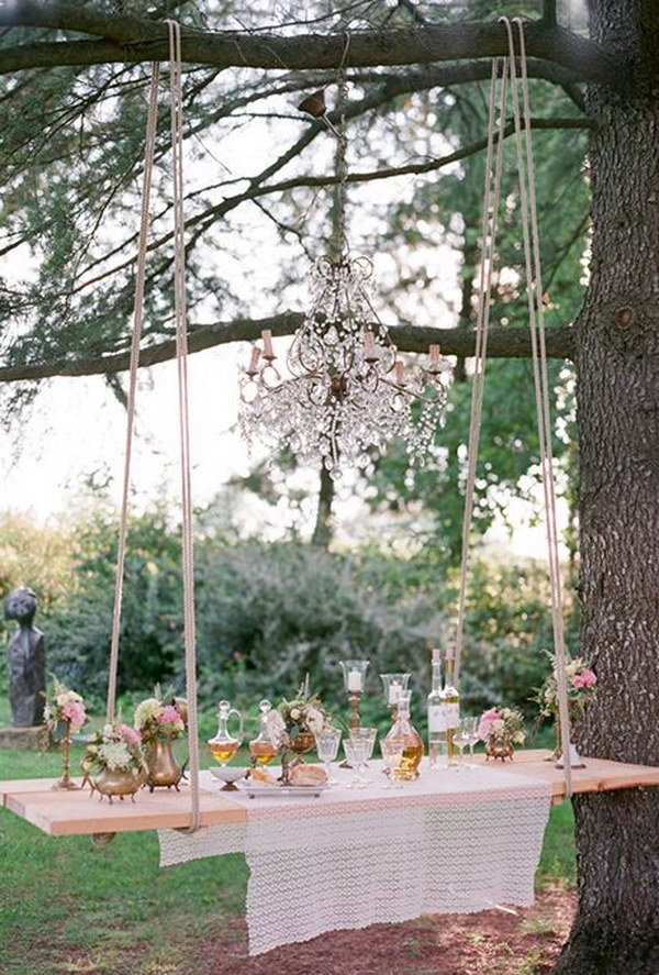 Romantic Swing Drink Station