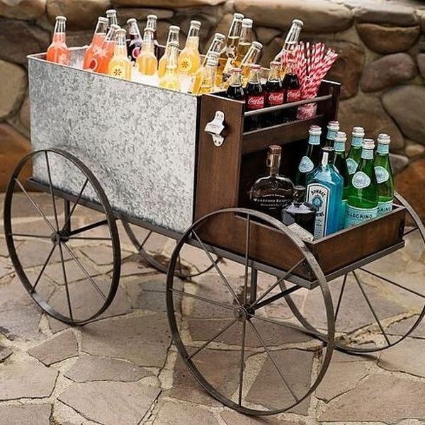 Pottery Barn Bar Cart.