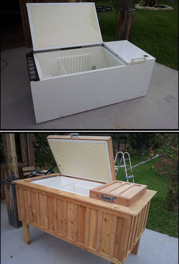 DIY Refrigerator to Ice Chest.