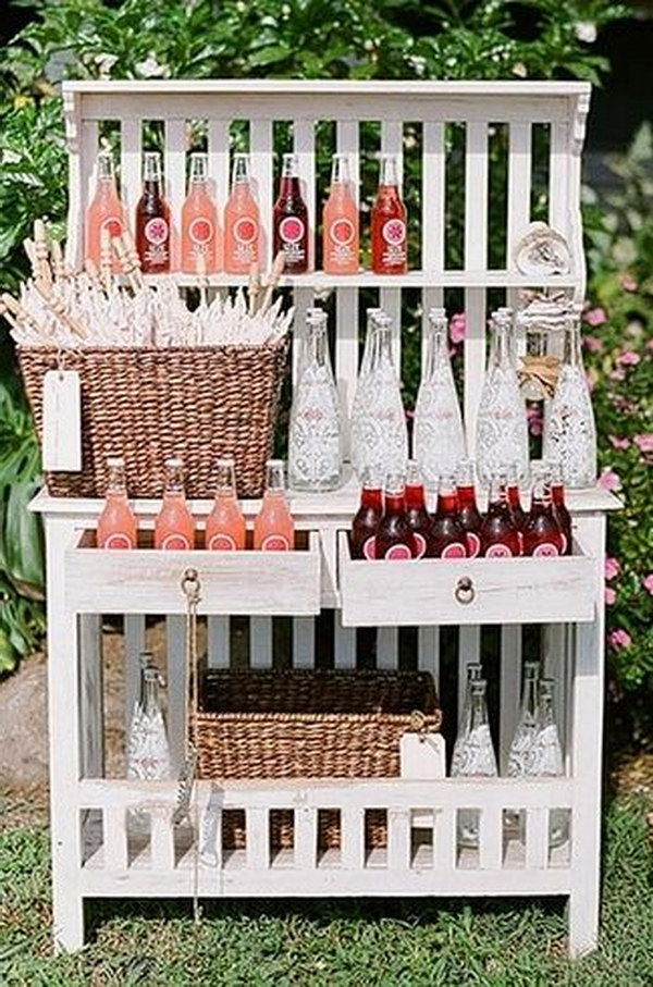 Cute Drink Station Display Idea.