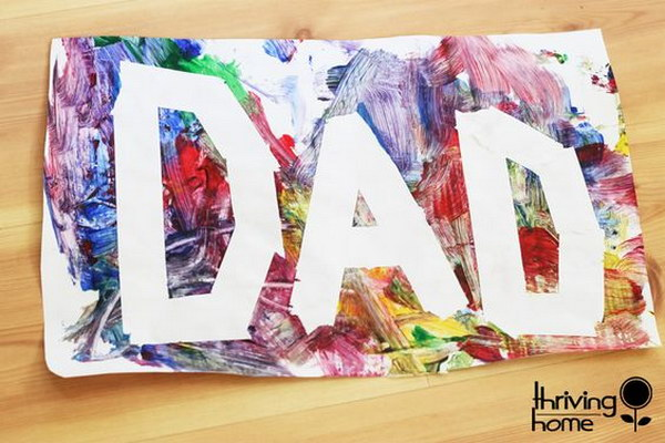 Easy Painting Art. Drawing and painting are always firmly among kids' favorite activities, so doing a unique painting for daddy is nothing out of the ordinary for them. Whether it shows untapped talent or not, this gift is sure to end up in a frame or taped to the fridge.