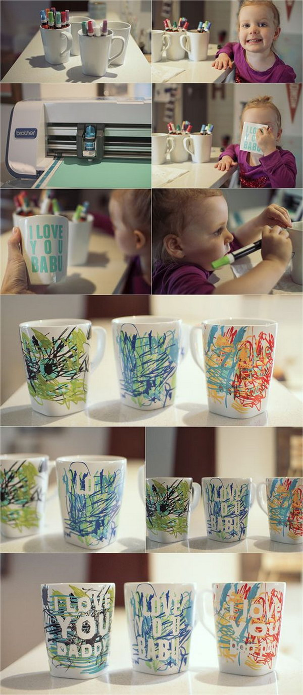 Father'S Day Coffee Mug. Every father loves coffee, and every kid loves drawing. Give the kids plain mugs and markers and you might find yourself with a perfect present for almost any occasion, Father's Day included.