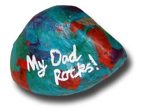 Dad Rocks Paperweight.
