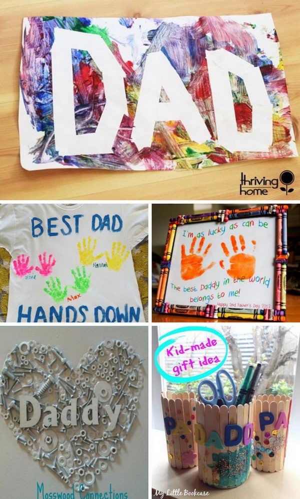 Awesome diy father 39 s day gifts from kids for Best gifts for fathers day