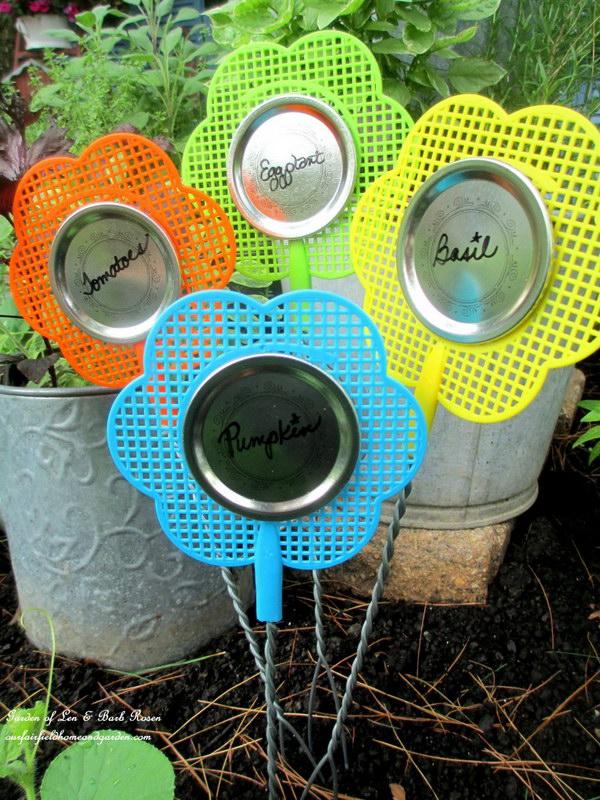 DIY Fly Swatter Garden Marker