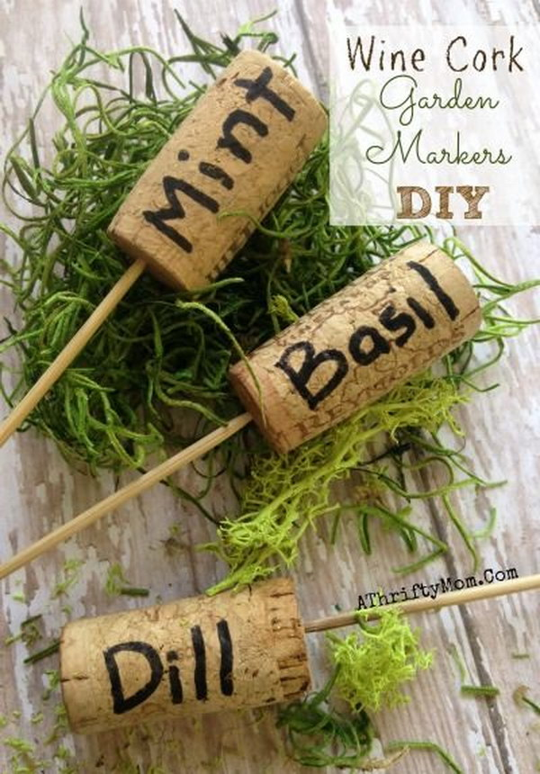 DIY Wine Cork Markers