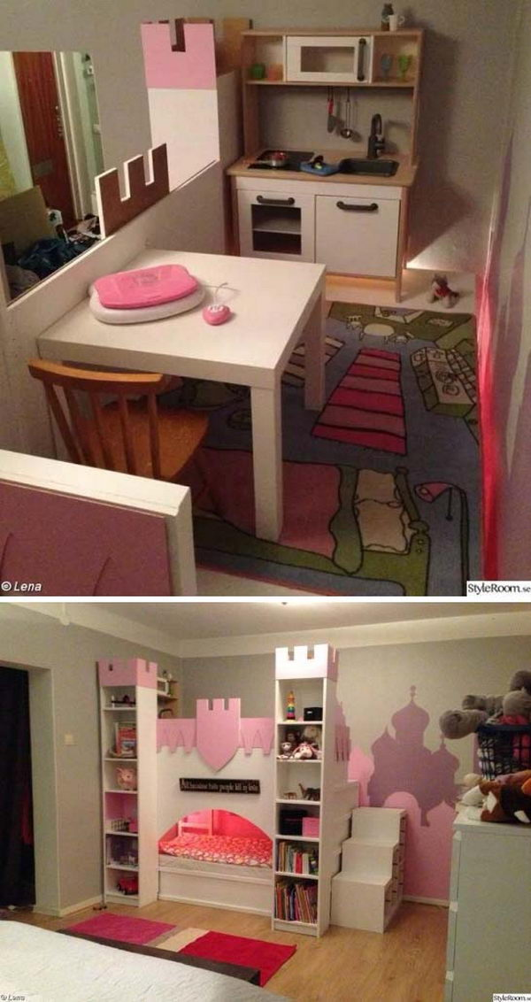 Or A Frugal DIY Version From iKea Kura Bed