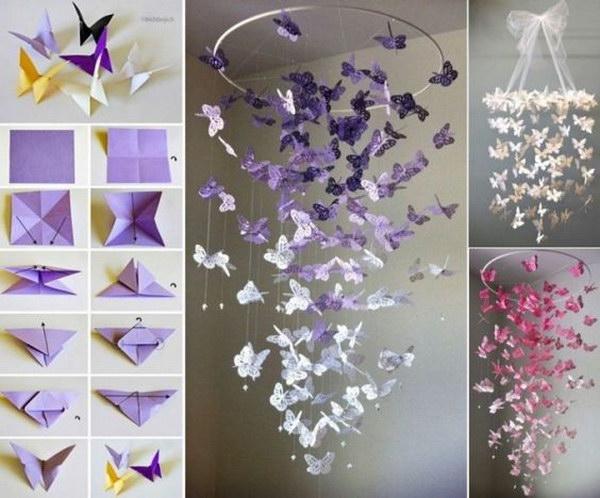 Butterfly Chandelier Mobile DIY Tutorial.