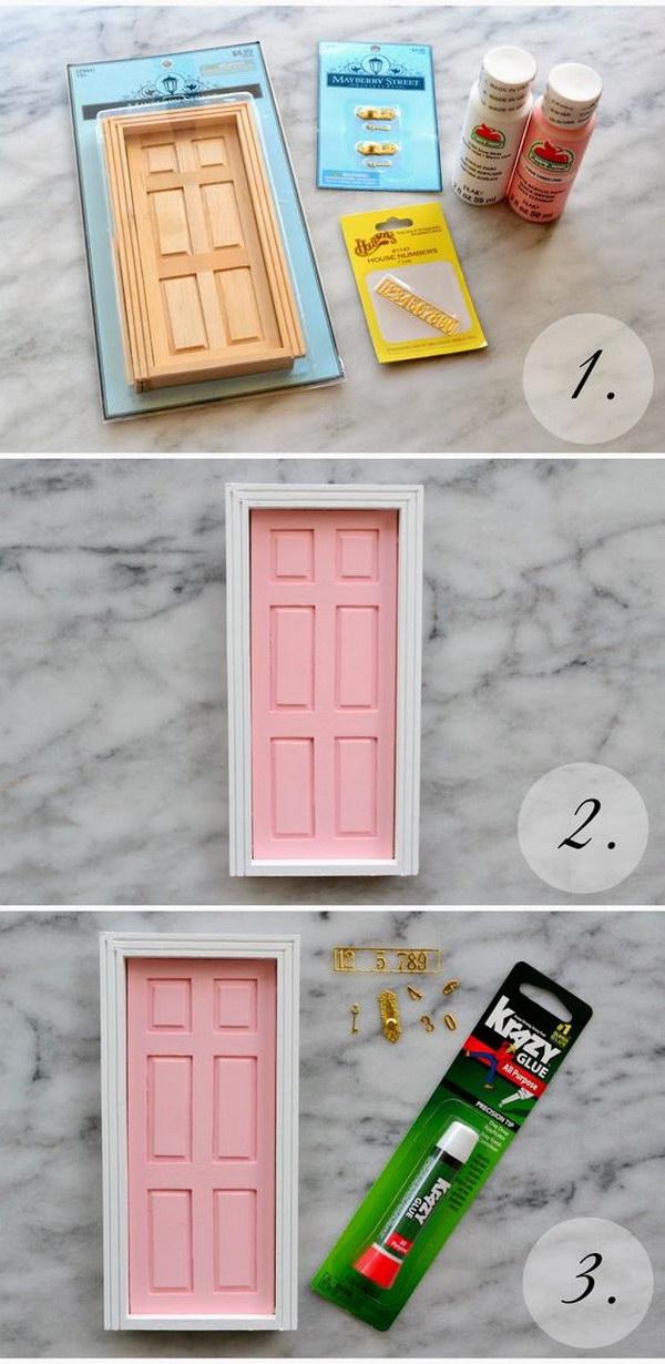 DIY Tooth Fairy Door For Little Girl