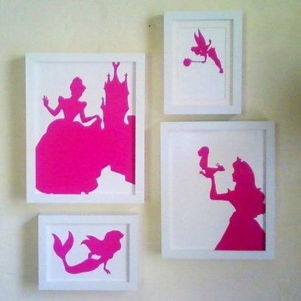DIY Princess Silhouette Artwork