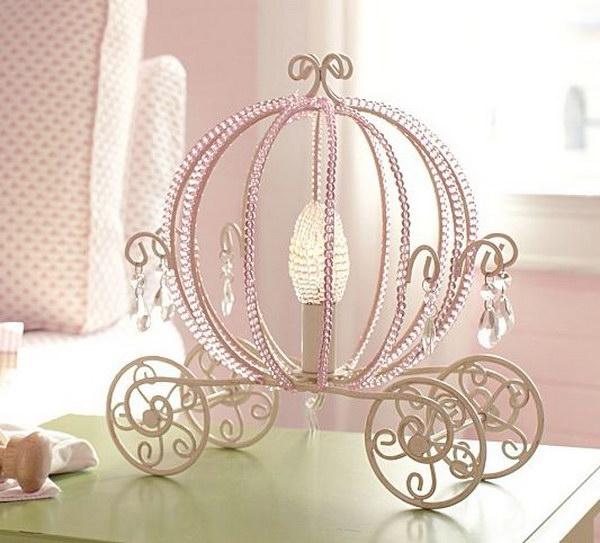 Princess Beaded Carriage Table Lamp