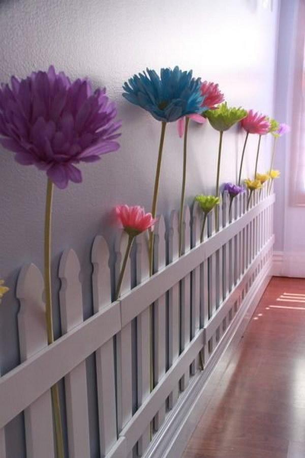 Beautiful Indoor Flower Fence