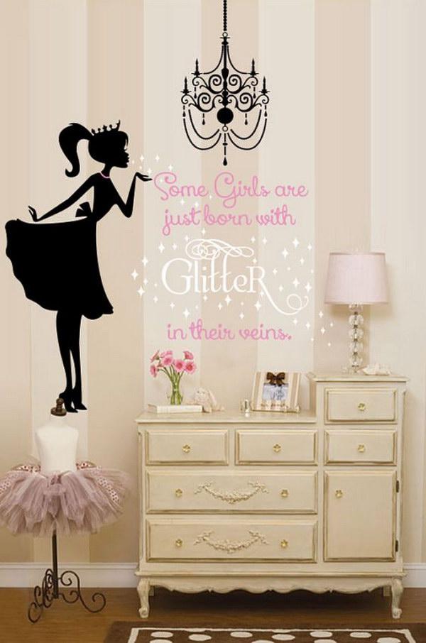 Glitter Ballerina Wall Decal