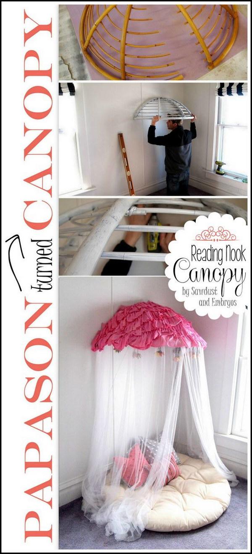 DIY Old Papasan Turned Canopy