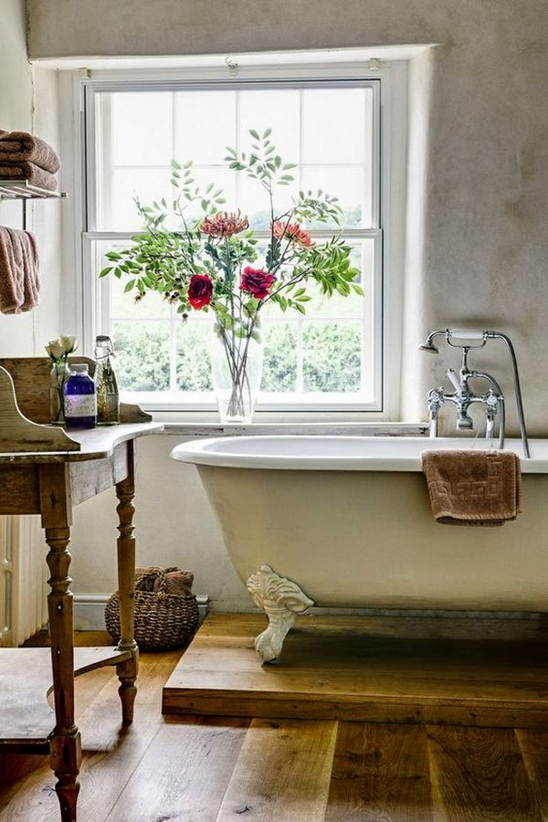 Romantic Rustic Bathroom.