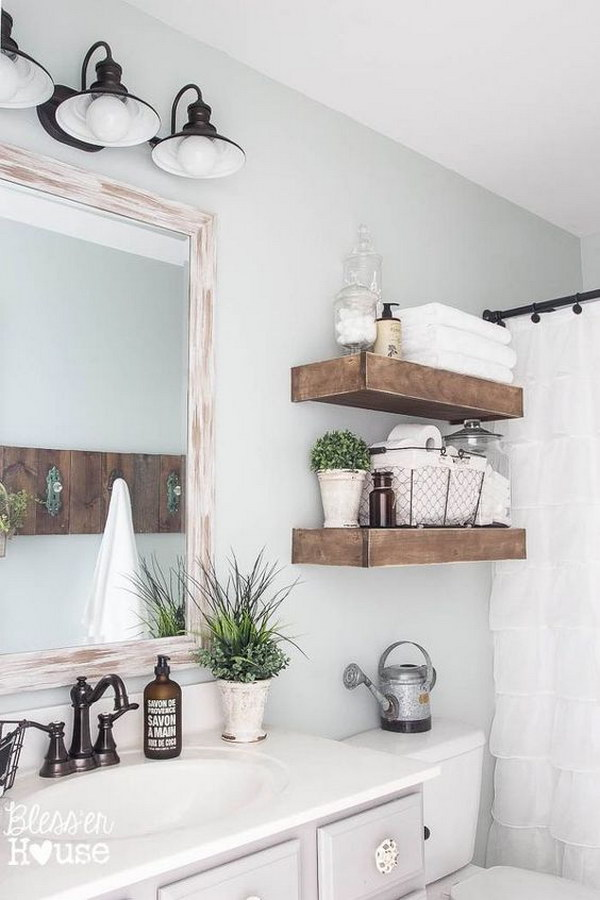 Rustic Farmhouse Bathroom.