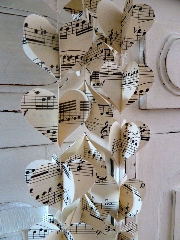 Sheet Music Heart  Garland.