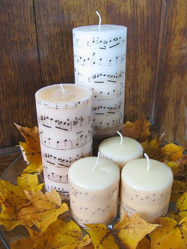 Sheet Music Candles.