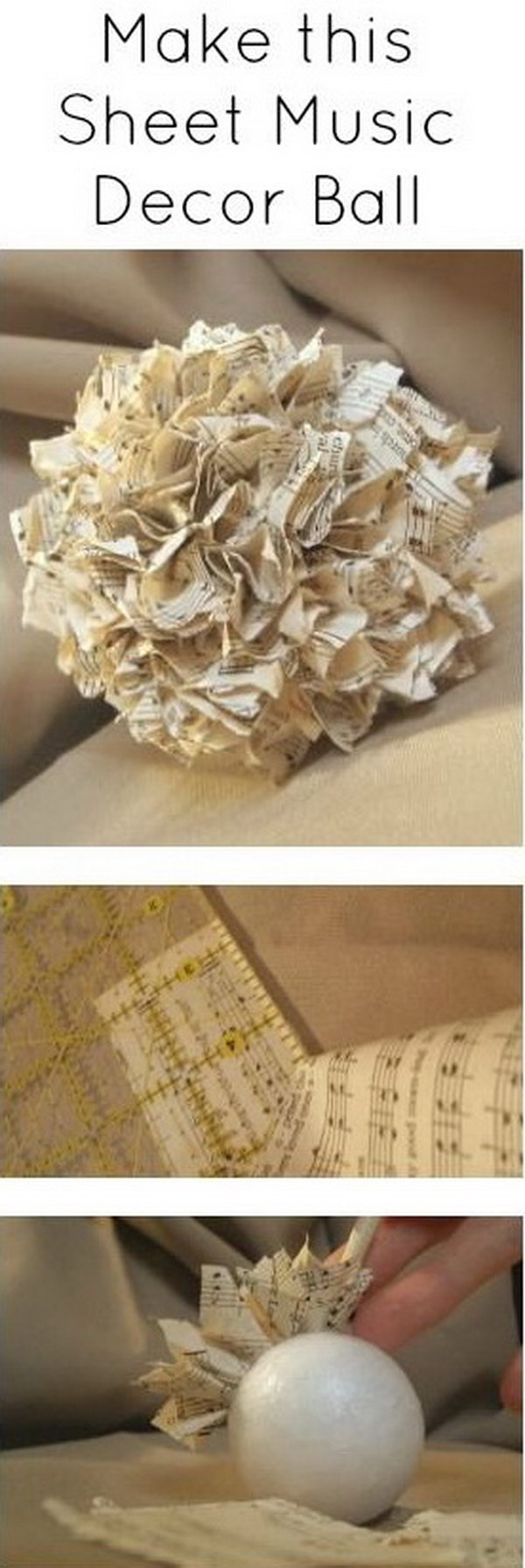 Easy to Make Romantic Sheet Music Decorating Projects- DIY ...