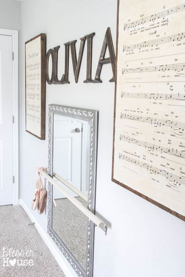 DIY Oversized Sheet Music and DIY Ballet Barre.