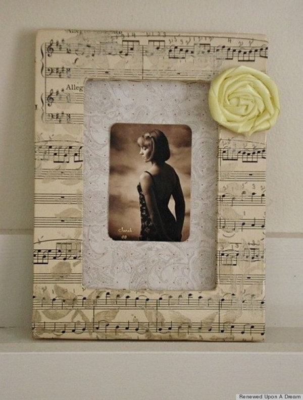 Sheet Music Photo Frame.