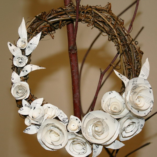 Sheet Music Wreath.