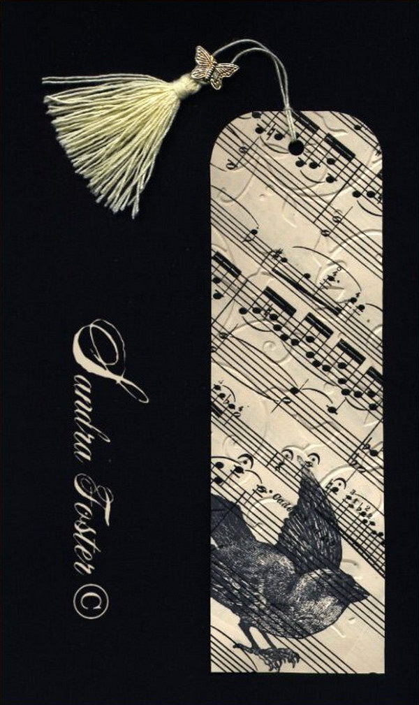 Easy to make romantic sheet music decorating projects diy vintage bookmark made with 100 year old sheet music gumiabroncs Gallery