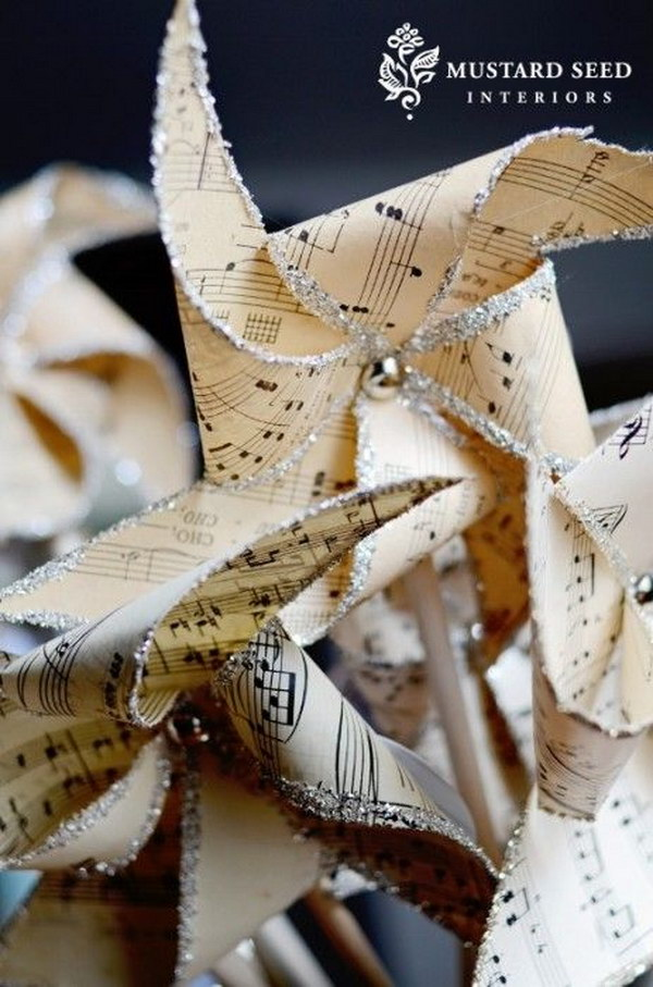 Sheet Music Pinwheel.