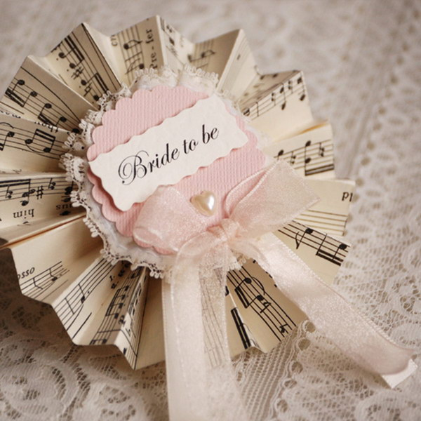 Music Sheet Bridal Party Rosettes.