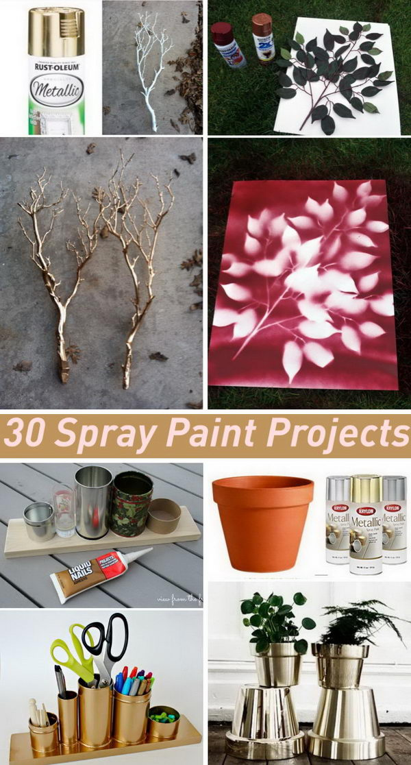 Exceptional Spray Painting Ideas Part - 6: Amazing Spray Paint Project Ideas To Beautify Your Home.
