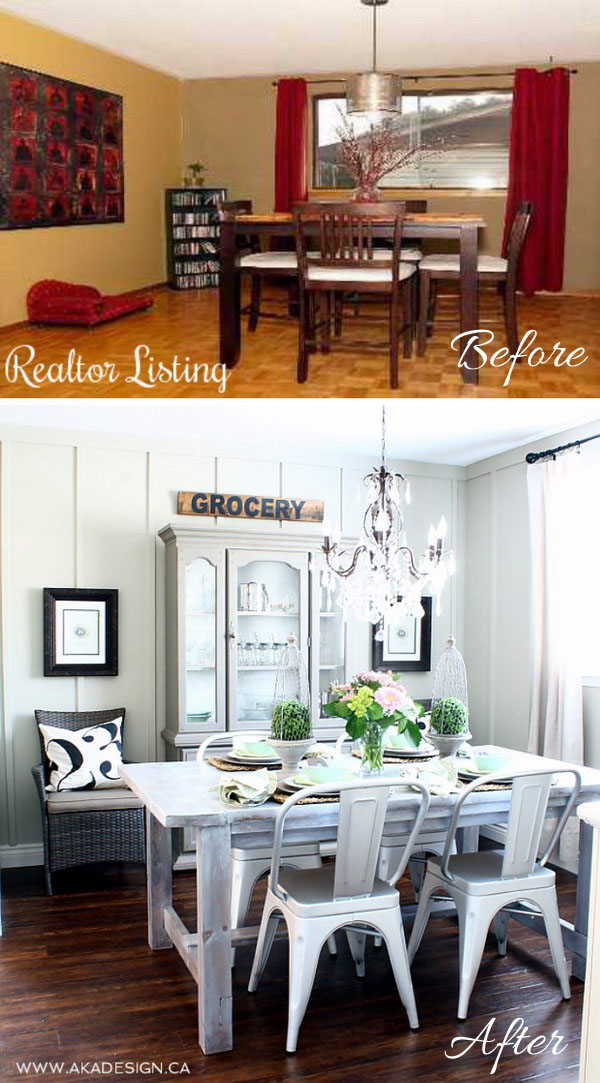 Cottage Farmhouse Dining Room Makeover.