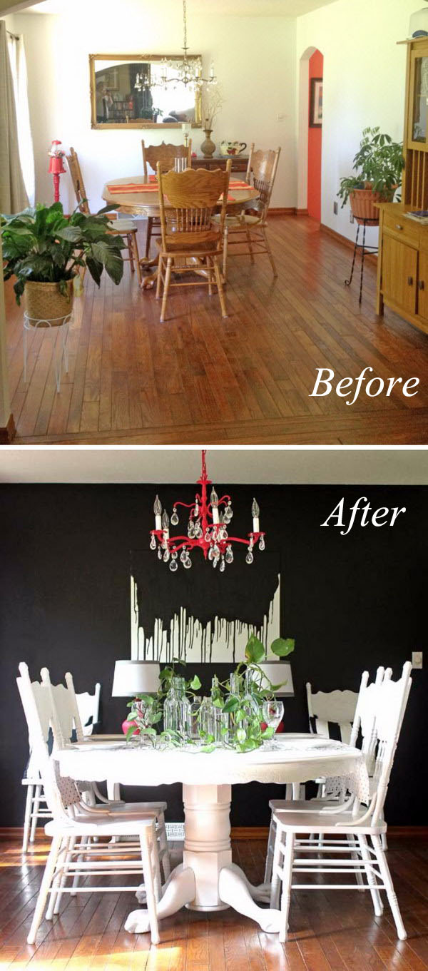 $500 Dining Room Makeover with Just Paint.