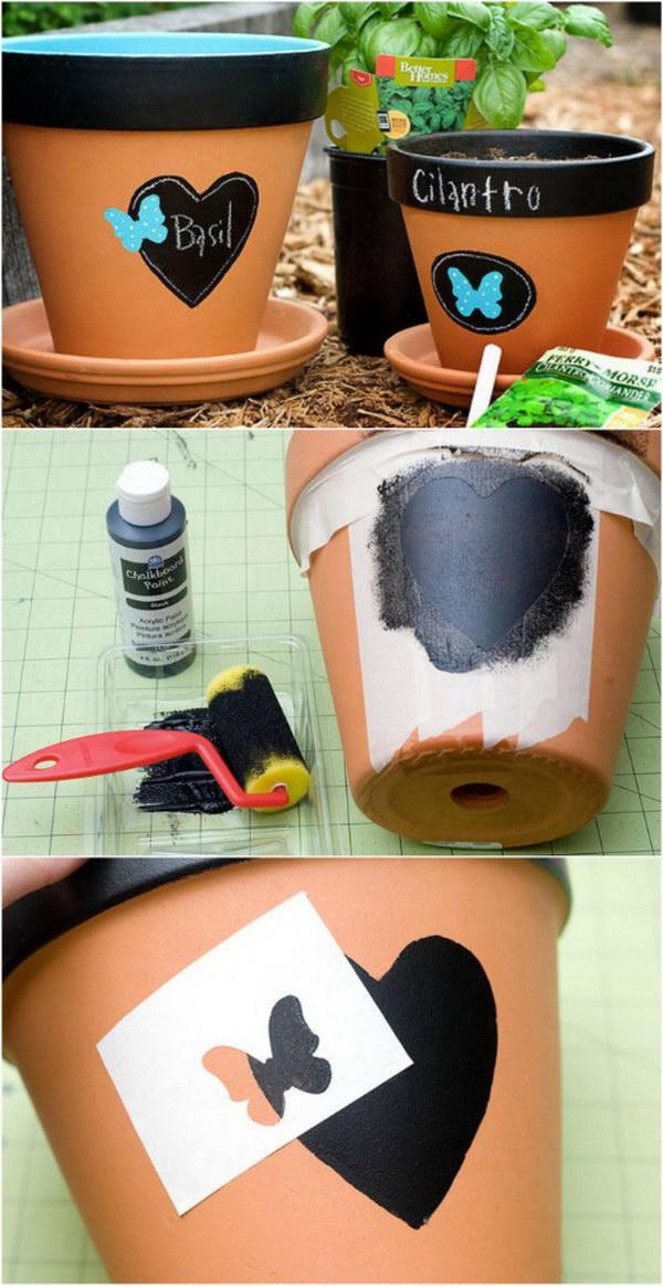 DIY Chalk Painted Flower Pots