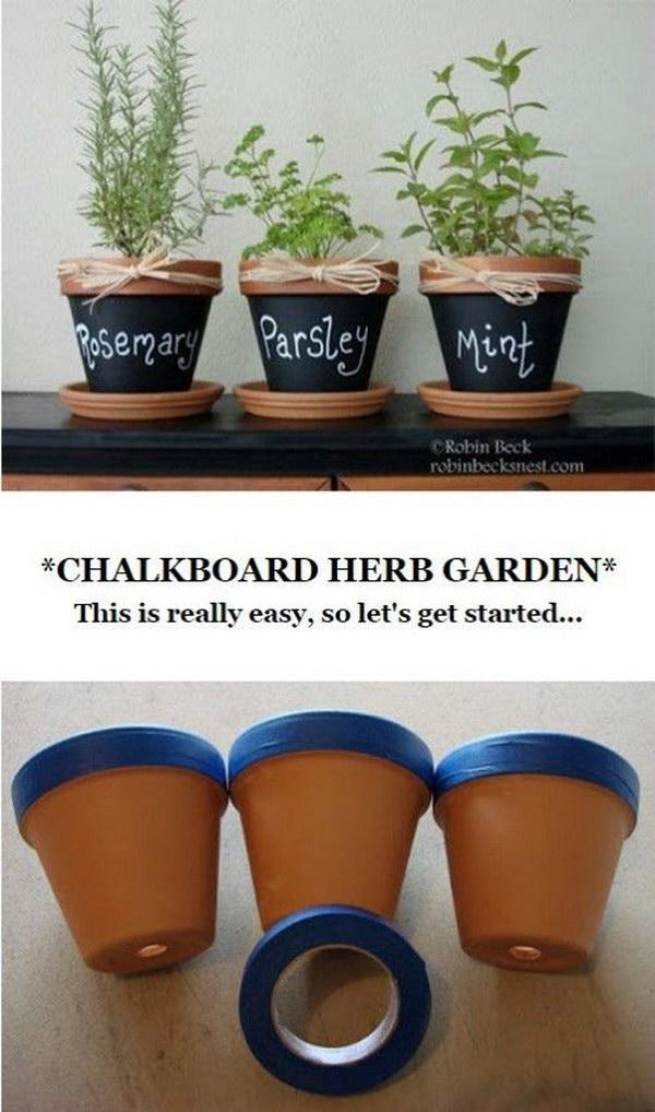 DIY Chalkboard Terra Cotta Pots