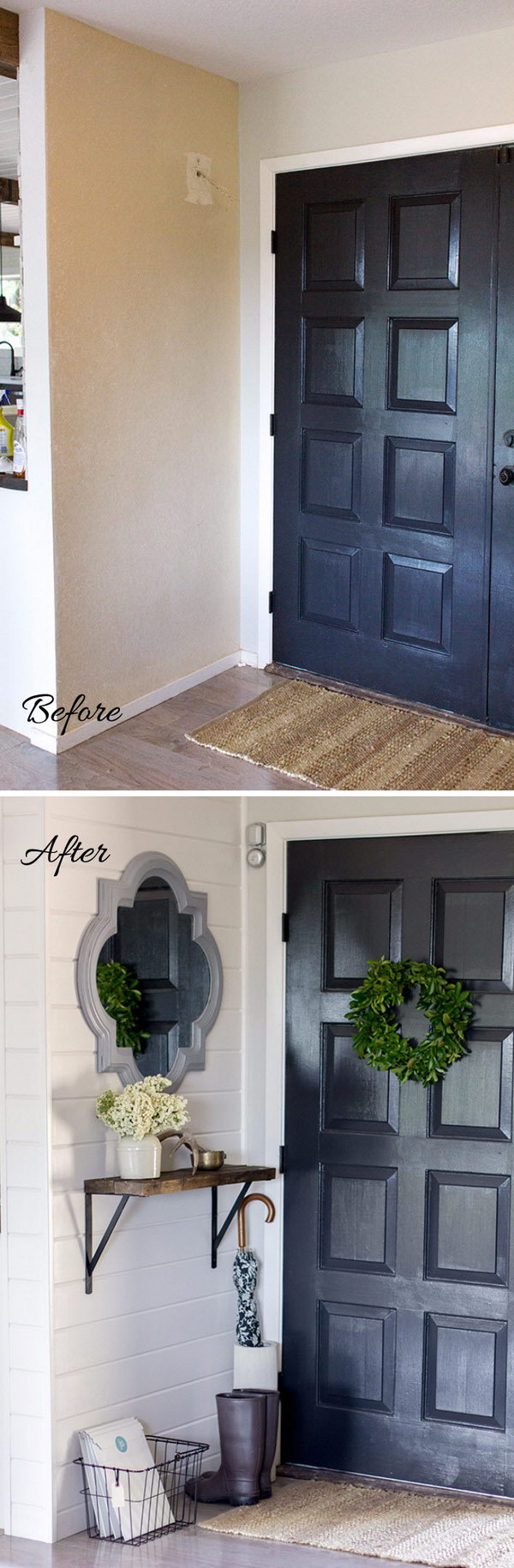 Farmhouse Entryway Makeover.