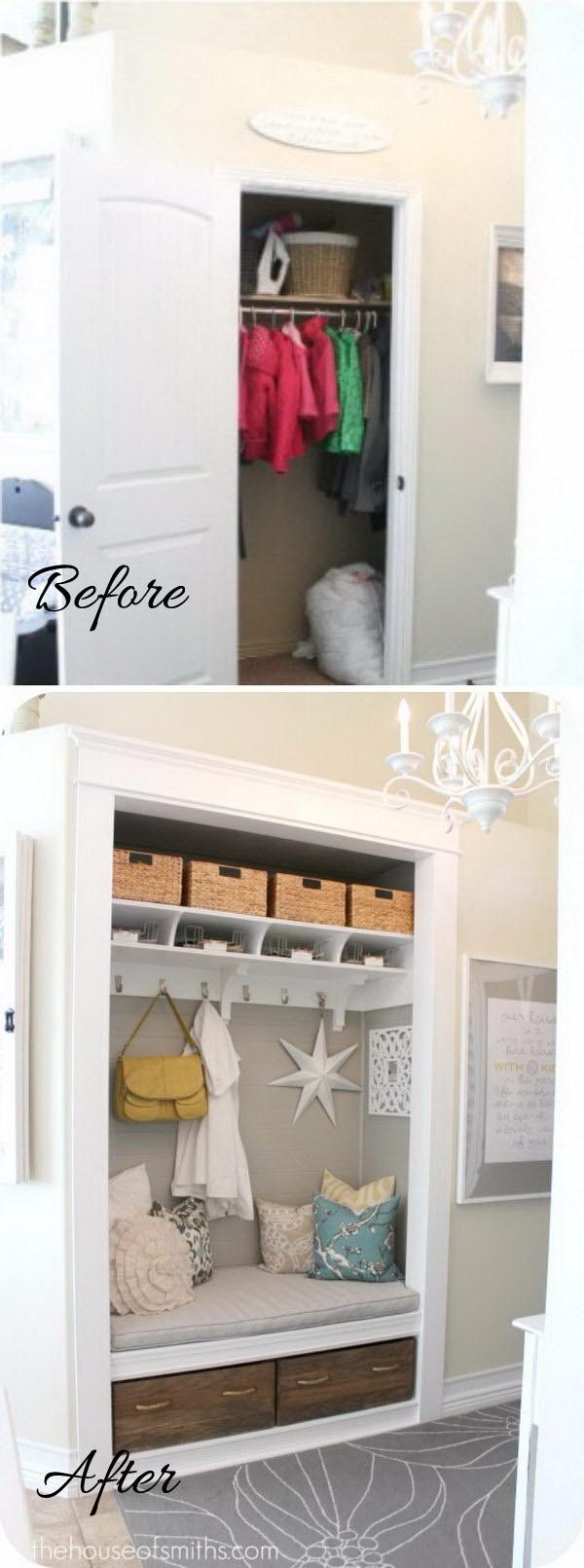 DIY Entryway Closet.