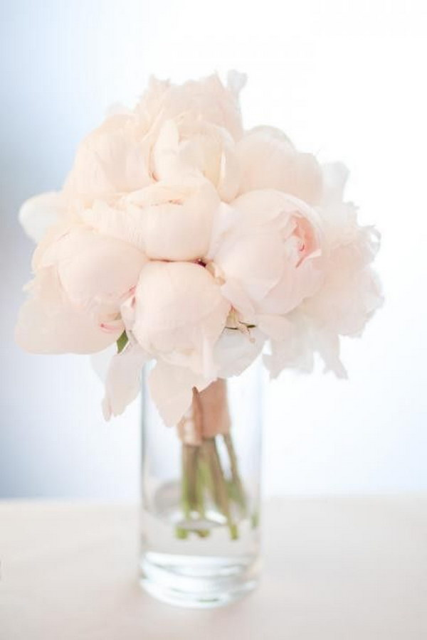 Beautiful flower arrangement ideas 2017 simple elegant lush pale pink peonies arrangement mightylinksfo