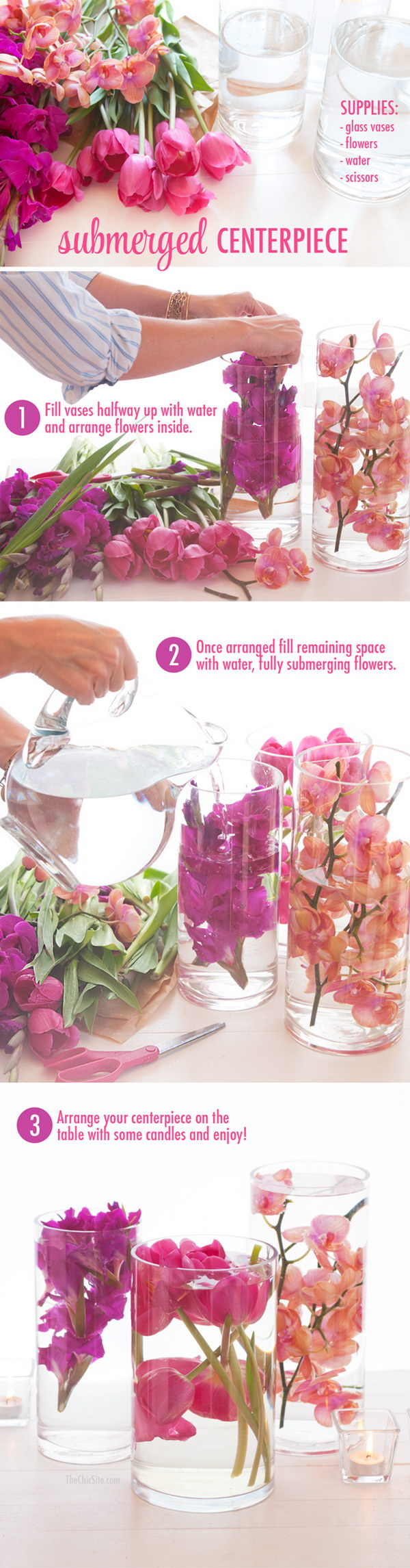 DIY Submerged Flower Centerpiece