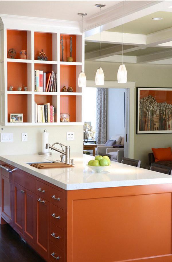 Orange Kitchen Cabinet.