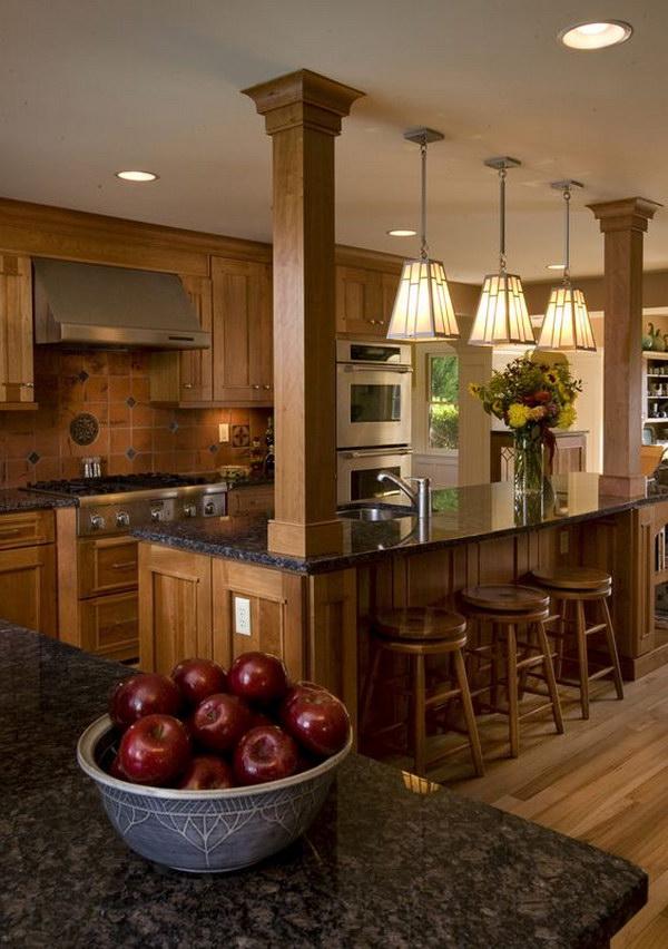 Brown Kitchen Cabinet.