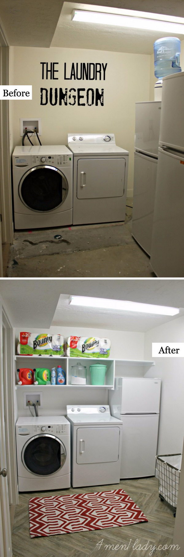 Quick and Budget Friendly Laundry Room Makeover.