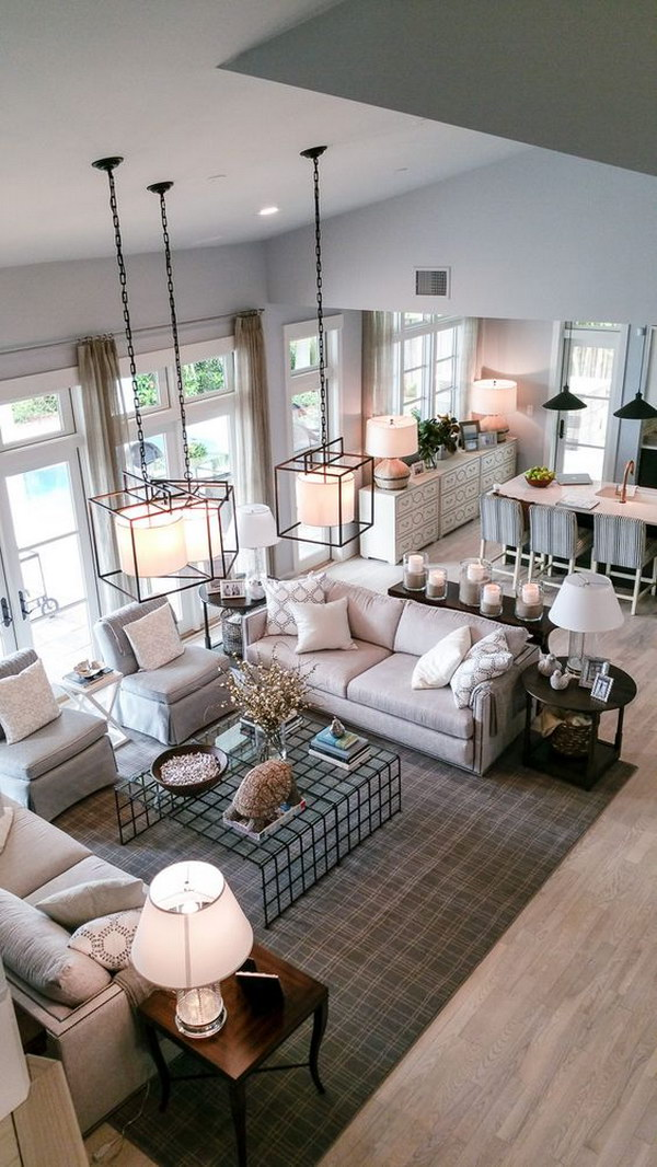 Living Room Layout: Emphasis On Alignment Or Symmetry.
