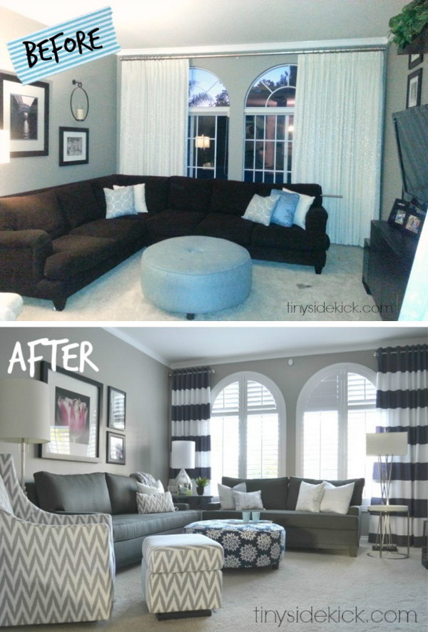 Grand Living Room Makeover.