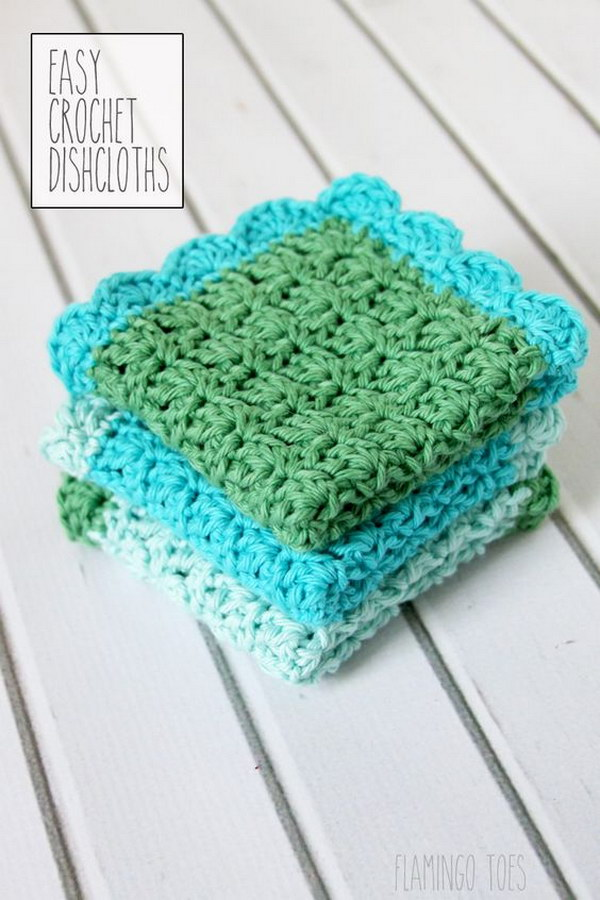 Easy Crochet Dish Cloth Pattern.