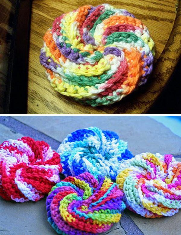 Spiral Crochet Scrubbie.