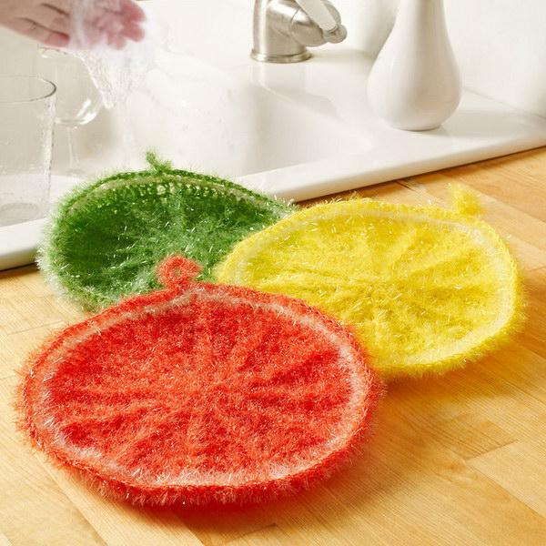 Citrus Crochet Scrubbie.
