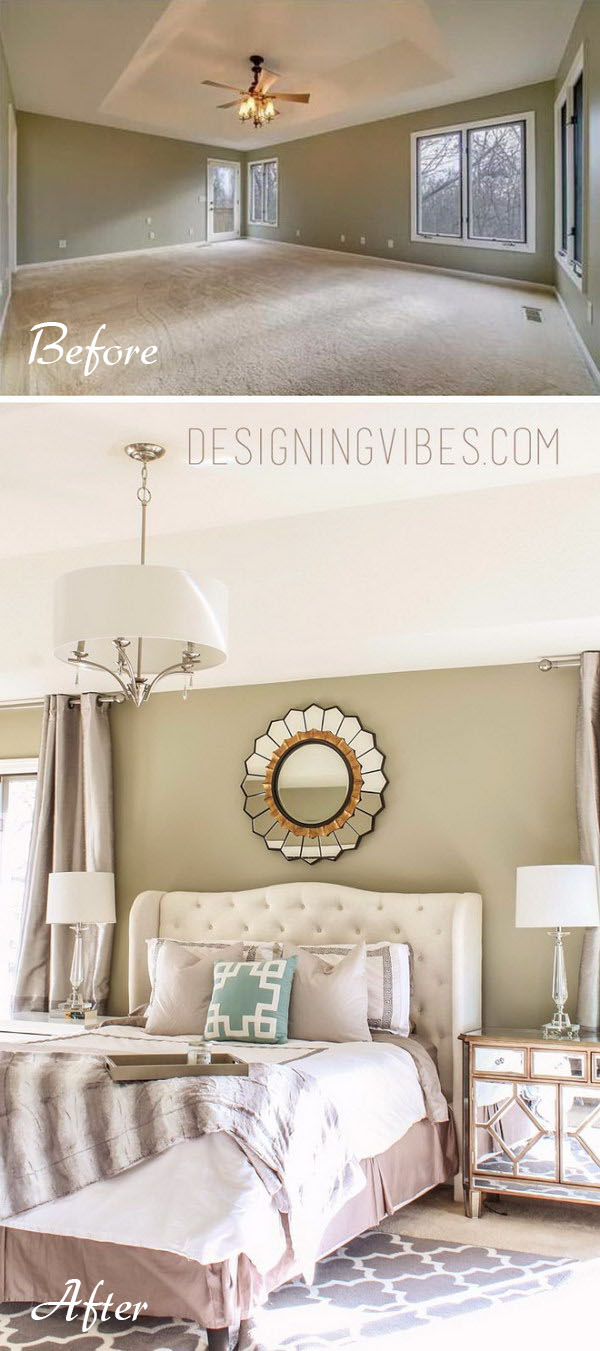 Mirrors can make a small space look bigger.