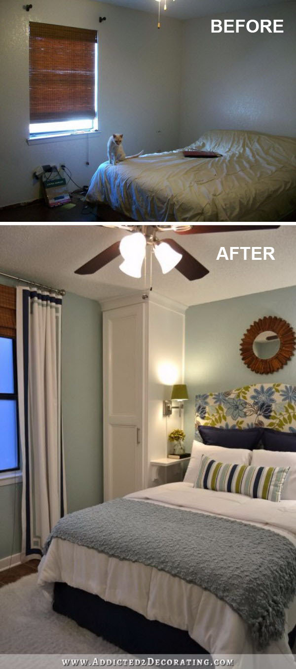 Floor to ceiling built in closets can make the ceiling look higher.
