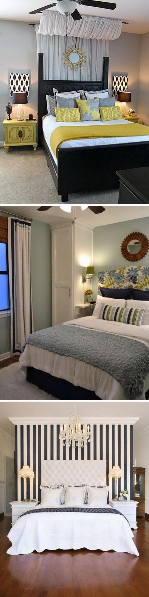 Creative Ways To Make Your Small Bedroom Look Bigger.